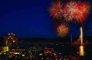 Fourth of July over Lake Coeur d'Alene